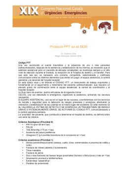 Protocol PPT en el SEM