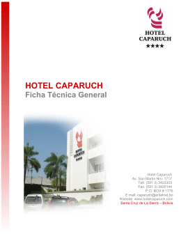 HOTEL CAPARUCH - Boliviaentusmanos.com