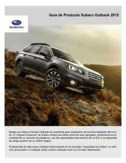 Guía de Producto Subaru Outback 2015
