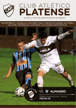 PlANtEl tEmPoRAdA 2014 - Club Atlético Platense