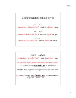 Comparaciones con adjetivos