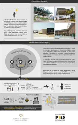INFOGRAFÍA ALIANZA FPD - NOURISH THE CHILDREN