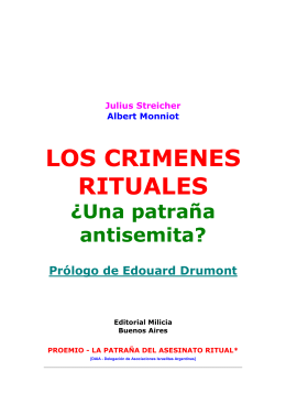 LOS CRIMENES RITUALES