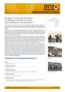 Aluguer: Documental sobre la realidad cultural y social