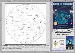 El Planisferio ( ) , o buscador de estrellas muestra el