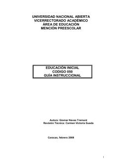 universidad nacional abierta vicerrectorado académico área de