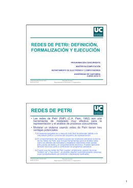 REDES DE PETRI - Universidad de Cantabria
