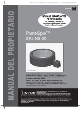 Manual Montaje Spa Intex Purespa Jets