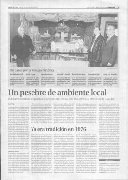Un pesebre de ambiente local - Federació Catalana de Pessebristes