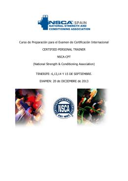 Curso de Preparación para el Examen de Certificación Internacional