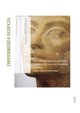 2. La orfebrería Egipcia - Jo·i·e