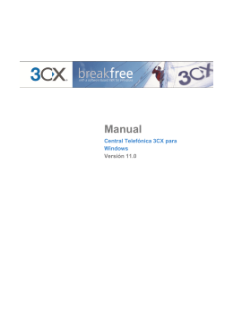 3CX Phone System for Windows Manual