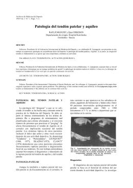 Patología del tendón patelar y aquileo
