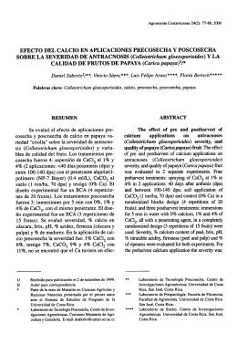 Colletotrichum gloeosporioides - Ministerio de Agricultura y Ganadería