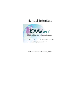 Manual Interfase ICAAVwin
