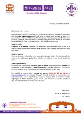 Carta actividad 28 de febrero