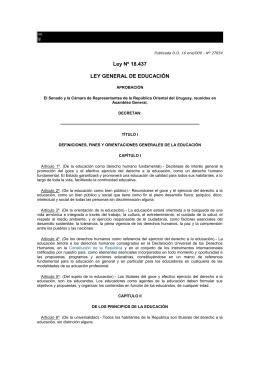 Ley Nº 18.437 LEY GENERAL DE EDUCACIÓN