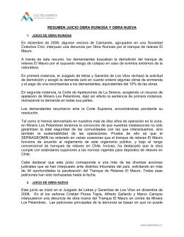 RESUMEN JUICIO OBRA RUINOSA Y OBRA NUEVA En diciembre