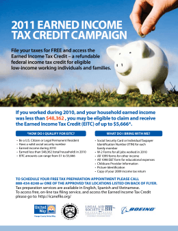 2011 earned income tax credit campaign