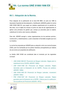 04.- La norma UNE 81900:1996 EX