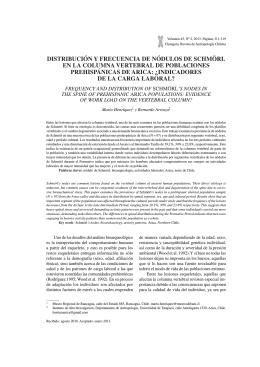 distribución y frecuencia de nódulos de schmörl en la columna