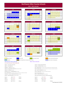 Corporation Calendar - Northwest Allen County Schools
