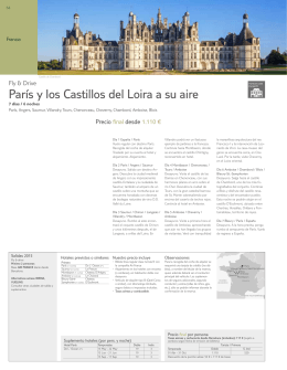 París y los Castillos del Loira a su aire
