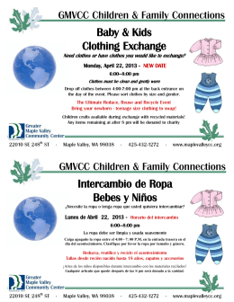 Intercambio de Ropa Bebes y Niños Baby & Kids Clothing Exchange