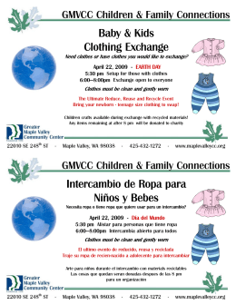 2009_4_22 SPANISH Half Sheet Ad Template Clothing Exchange