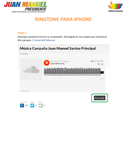 RINGTONE PARA IPHONE
