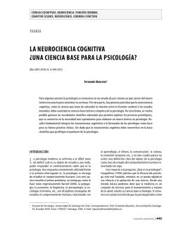 La neurociencia cognitiva ¿una ciencia base para La