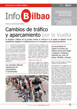 Cambios de tráfico y aparcamiento por la Vuelta