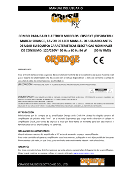manual del usuario combo para bajo electrico