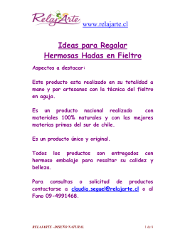 Ideas para Regalar Hermosas Hadas en Fieltro