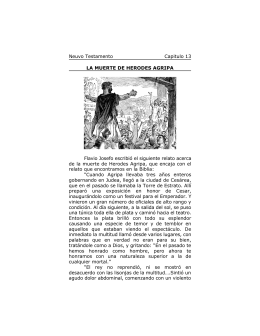 Capitulo 13 - La Muerte de Herodes Agripa