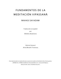fundamentos de la meditación vipassanā