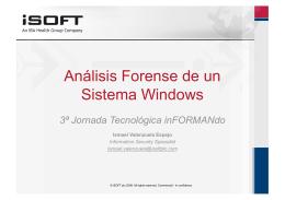Análisis forense de un sistema Windows