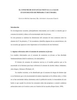 EL CONSUMO DE SUSTANCIAS NOCIVAS A LA SALUD