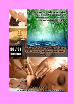 curso masaje andino en lima 2014