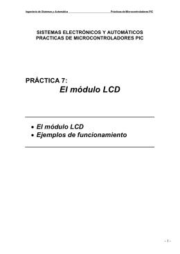 El módulo LCD - ingeniería de sistemas y automática