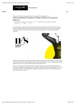 International Fashion Show Chile en Espacio Riesco | Inspireme