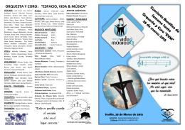 """ORQUESTA Y CORO: """"ESPACIO, VIDA & MÚSICA"""""""