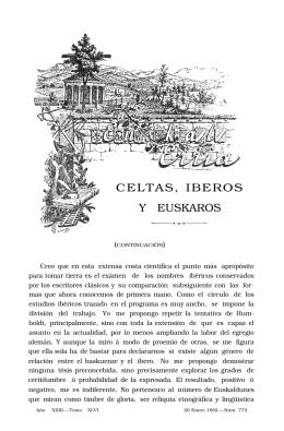 CELTAS, IBEROS Y EUSKAROS