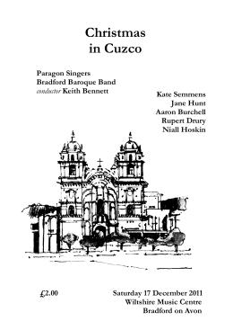 Cuzco programme - Paragon Singers