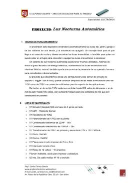 LUZ NOCTURNA AUTOMATICA - FORMA Nº 1 (238