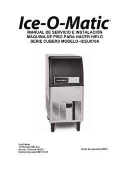 MANUAL DE SERVICIO E INSTALACIÓN MÁQUINA - Ice-O