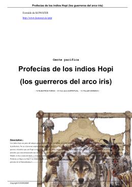 Profecías de los indios Hopi (los guerreros del arco iris)