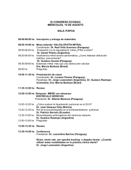 ix congreso ecosiac miércoles, 15 de agosto sala itapua