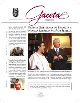Premia Gobierno de Francia a Norma Patricia Muñoz Sevilla