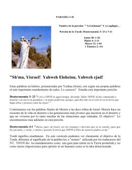 PARASHA #45 Va`etchanan! - Desde el Monte de Efrain